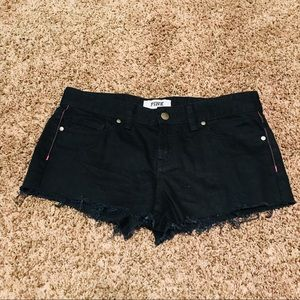 Victoria Secret Pink Brand Black Cut Off Shorts, 4
